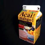 【乳飲料】1日分の葉酸が摂取できるアサイーマンゴーは風呂屋のフルーツ牛乳ぽくて好き。